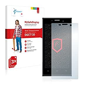 3x Vikuiti MySafeDisplay Protector de Pantalla DQCT130 de 3M para NGM Dynamic Stylo+