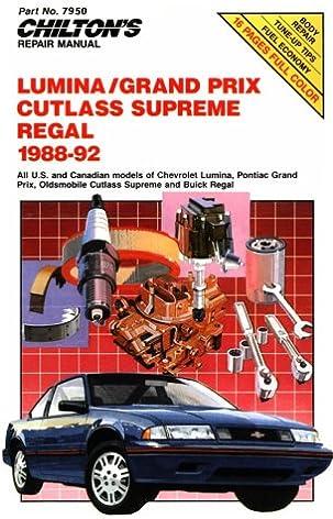 chevy lumina gran prix cutlass supreme and regal 1988 92 rh amazon com 1994 Chevy Lumina 1994 Chevy Lumina