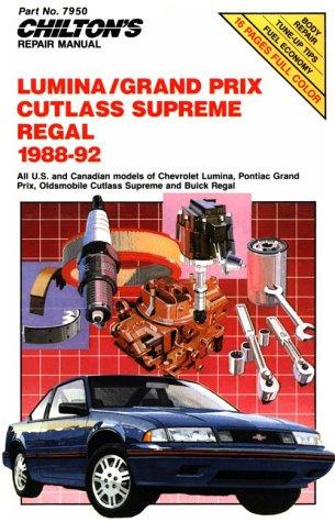Chevy Lumina, Gran Prix, Cutlass Supreme, and Regal, 1988-92 (Chilton's Repair - Lumina Van