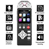 Digital Voice Recorder for Lectures by Aiworth - Tape Recorder Sound Audio Recorder Dictaphone Recording Device with Playback Variable Speed MP3, Flatten UI