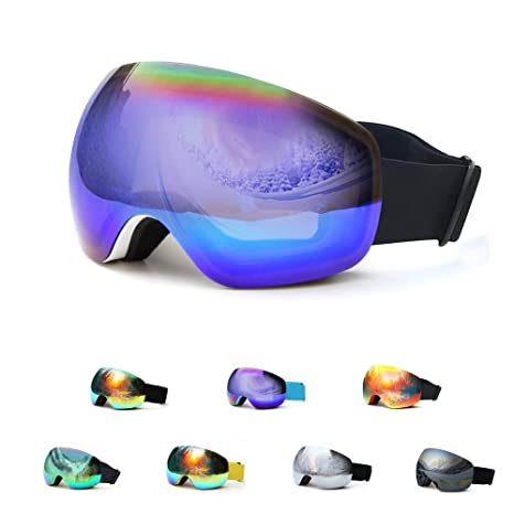 7e2fb0a15a78 Amazon.com   HesVap Spherical Frameless Ski Goggles Men Women
