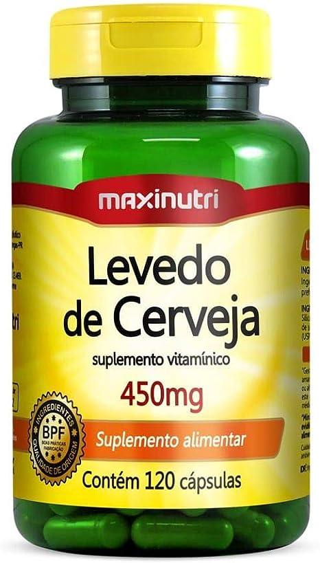 Levedo de Cerveja 450mg - 120 Cáps, Maxinutri