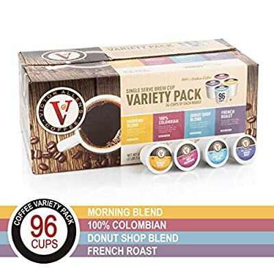 Donut Shop, Morning Blend, 100% Colombian, and French Roast Variety Pack for K-Cup, Keurig 2.0 Brewers, 245 Count Victor Allen's Coffee Single Serve Coffee Pods from Victor Allen