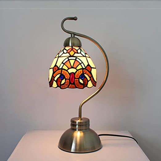 QYLOZ Lámpara de Escritorio de Cristal Hecha a Mano/lámpara de ...