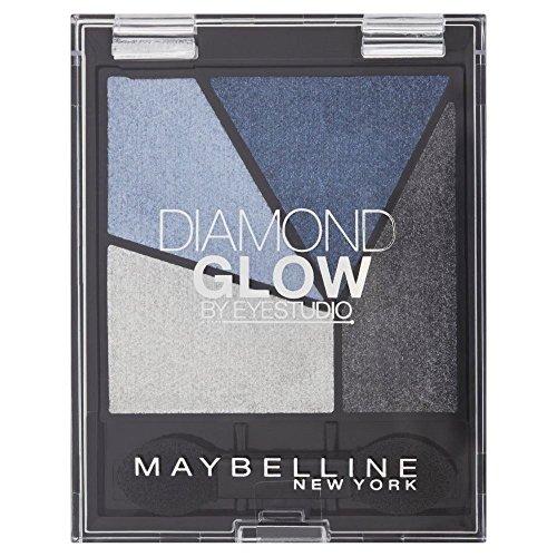 - Maybelline Eye Studio Diamond Glow Eye Shadow Quad - 01 Blue Drama - Pack of 6
