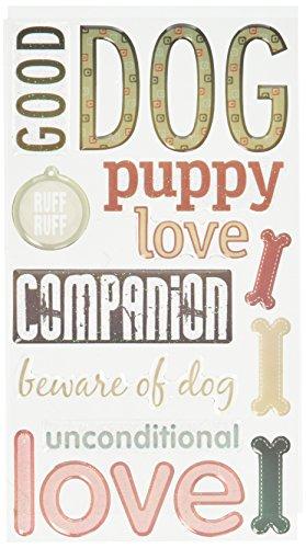 Sticko Phrase Cafe Epoxy Stickers, Dog ()