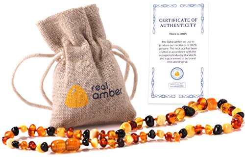 Real Baltic Amber Teething Necklace
