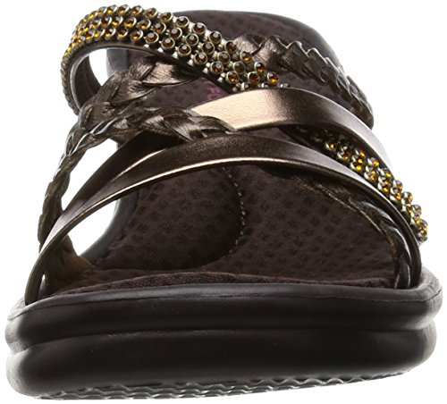Skechers Cali Women's Rumbers-Wild Child Wedge Sandal,Bronze Rhinestone,9 M US by Skechers (Image #4)