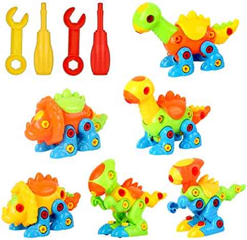 Dinosaur Toys Take Apart Toys - Dinosaurs Take Apart Kit 226 Pieces, Construction Engineering Building Play Set for Boys Girls Toddlers, STEM Learning Kit for Kids Age 3, 4, 5 +Year Old