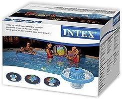 Intex 28695 - Luz LED flotante de carga solar para piscinas: Amazon.es: Jardín