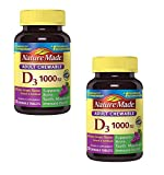 Nature Made Adult Chewable D3 1000 IU Grape Flavored Tablets, 2PACK