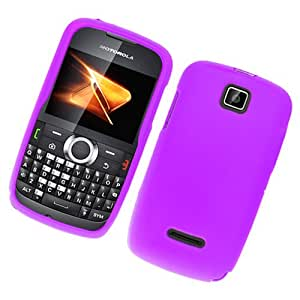 Purple Rubberized Hard Plastic Case for Motorola WX430 Theory