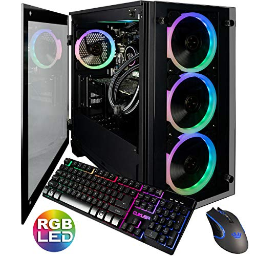 CUK Stratos Micro Gaming PC (Liquid Cooled Intel Core i9-9900K, NVIDIA GeForce RTX 2080 Ti, 32GB RAM, 1TB NVMe SSD + 2TB, 750W Gold PSU, Z390 Motherboard) Best Tower Desktop Computer for Gamers