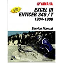 LIT-12618-00-45 1984-1988 Yamaha Enticer 340/T ET340 And Excel III EC340 Snowmobile Service Manual