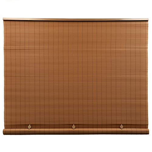 Lewis Hyman Cord Free 1/4 Inch Oval PVC Shade, Woodgrain, 96 Inches x 72 Inches Roll Up Blind (Best Quality Roller Blinds)