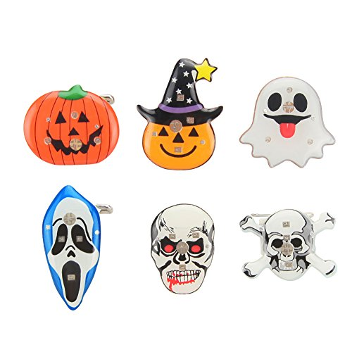 Colawind Ghost Flashing Pin Brooch For Halloween Ornaments(Pack of (Halloween Flashing Pin)