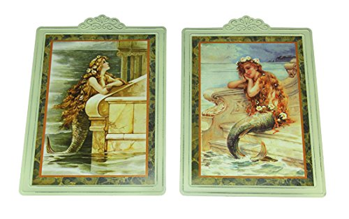 (Timeless By Design Victorian Mermaid Moments Tintype Wall Hanging Set of 2)