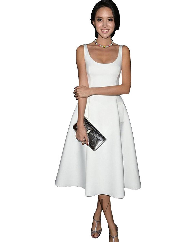 Moollyfox Frauen Elegante OL Ärmellos Tutu Kleid