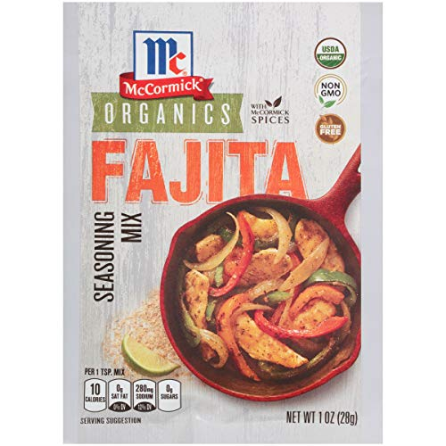 - McCormick Organic Fajita Seasoning Mix, 1 oz (Pack of 12)