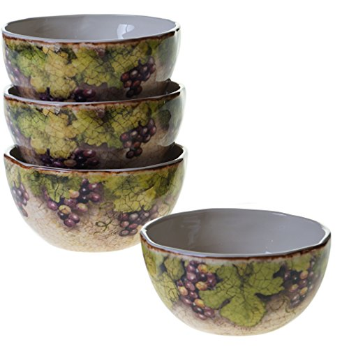 Certified International 25378SET/4 Sanctuary Wine Ice Cream Bowls (Set of 4), 5.75'', Multicolor by Certified International