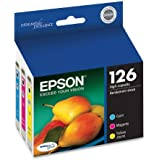 Epson T126520-S  DURABrite Ultra Color Combo Pack High Capacity Cartridge Ink