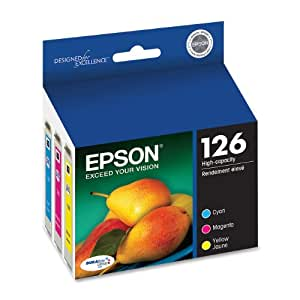Epson T126520 DURABrite Ultra Color Combo Pack High Capacity Cartridge Ink