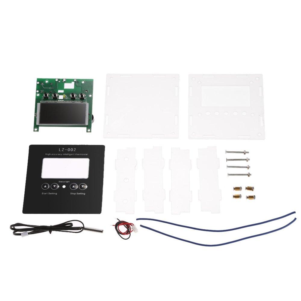 Wunes - デジタルサーモスタットデジタル温度コントローラーDC12V高精度インテリジェントDIYキット-5℃~110℃の加熱冷却制御 B07CNBRC9Q