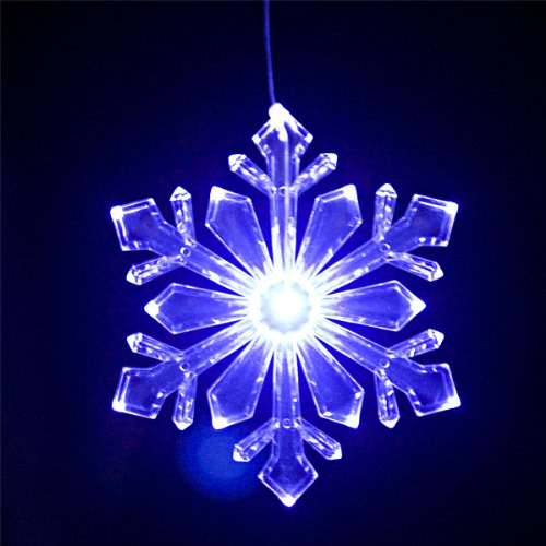 Outdoor Lighted Snowflake Ornaments in US - 4