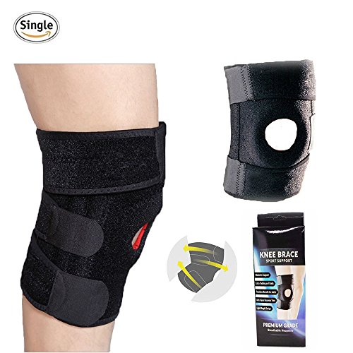 Limiwlw Knee Brace No-Slip Knee Support New Upgrade Knee protector Sleeves with Adjustable Strapping and Breathable Neoprene Silicone Patella Knee Stabilizer for Men and Women by Limiwlw