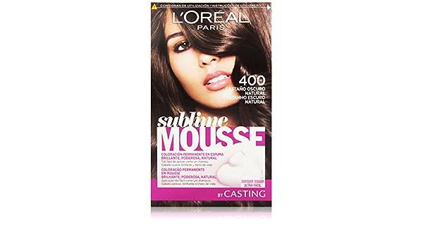 LOreal Paris Sublime Mousse Coloración Permanente, Tono: 400 ...