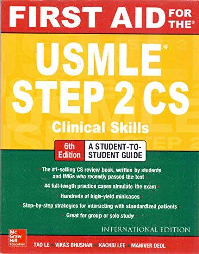 FIRST AID FOR THE USMLE STEP 2CS 6E (First Aid Step 2 Cs Latest Edition)
