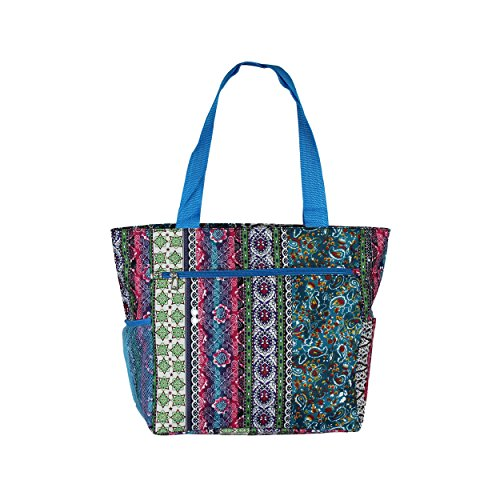 Large Shopper Tote Gym Womens Bag Beach Travel Blue Weekender Print School Bohemian TIwTq1