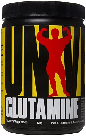 Universal Nutrition Glutamine Powder Supplement – Pure L-Glutamine – Muscle Recovery BCAA – Full 5g of Glutamine per Serving – Pharmaceutical Grade Amino Acid – 120 g