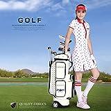PGM Women Wheeled Golf Stand Carry Bag ---PU Golf Clubs Bag