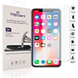 """trop saint Tempered Glass Screen Protector for iPhone X (5,8)"""" - 0.3mm Scratch-Proof Screen Shield - Transparent"""