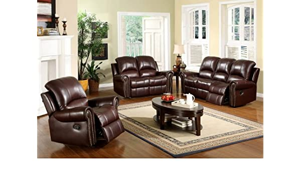 Wondrous Amazon Com Arlington Reclining Italian Leather Sofa Gmtry Best Dining Table And Chair Ideas Images Gmtryco