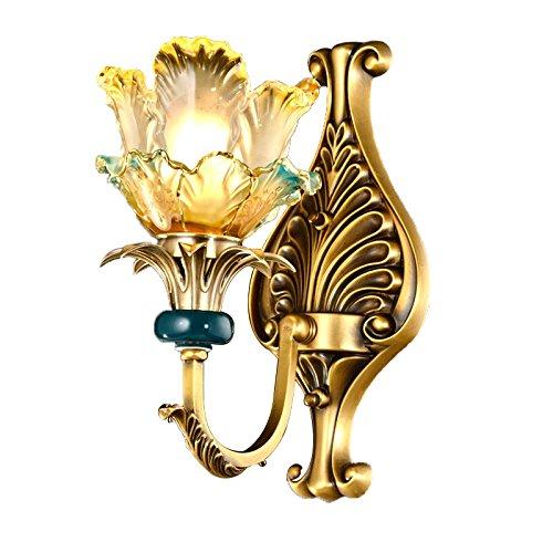 Chen Lampada in vetro in stile europeo lampada a sospensione in vetro in rame intagliato a mano ( dimensioni   3815cm )