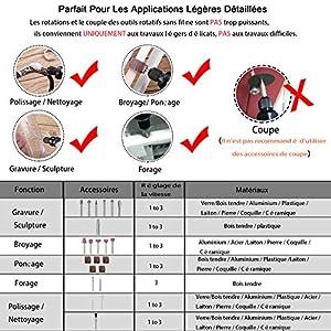 Polissage Sans fil outil rotatif PCG01B Mini Rotary Tool Kit 3.7 V