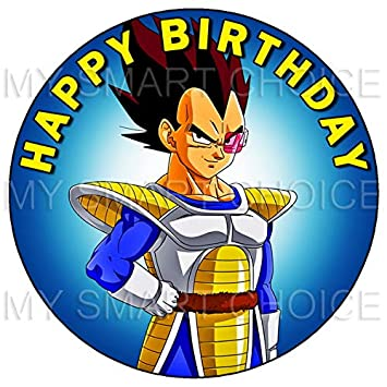 75 Inch Edible Cake Toppers Dragon Ball Z Super Vegeta Themed Birthday Party Collection