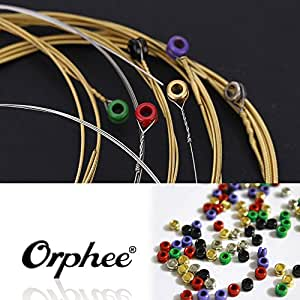 Orphee TX620 6pcs Acoustic Folk Guitar String Set (.010-.047)