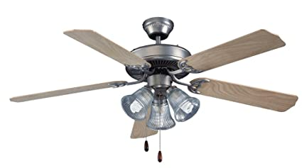 Royal Pacific Lighting 1052 3HBN Traditional Royal Star 5 Blade Traditional  Ceiling Fan With 3