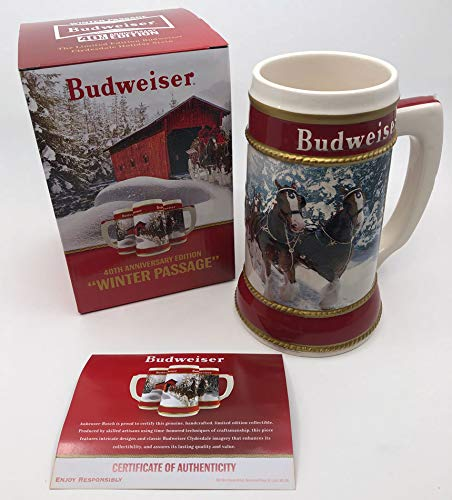 2019 Budweiser Holiday Stein - 40th Anniversary Edition