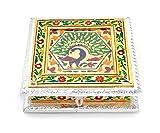 RAJKRUTI Handicrafted Handicraft Dry Fruit Box,Mouth Freshner Box, Serving Tray, Decorative Platter, Festive Decor , Wedding Gifts , Decorative Items