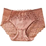 Seaintheson Little Sexy Panties, Women Sex Lingerie Lace Flowers Briefs Open Crotch G-String Lingerie Thongs Underwear Coffee