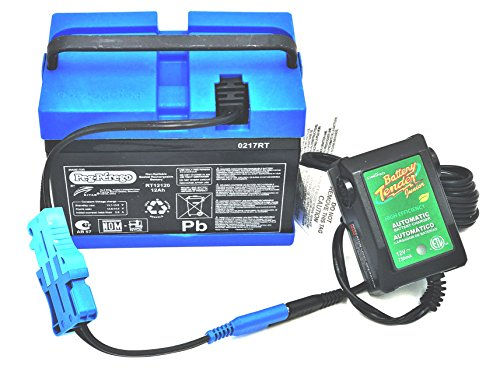 Battery Gator Perego Peg (Peg Perego 12 Volt Blue Battery IAKB0501 and Fully Automatic Battery Tender Quick Charger Combo Pack by CBC)
