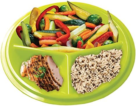 Rehabilitation Advantage 3 Compartment Portion Plate with Lid (Set of 2) 3