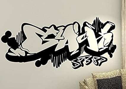 Graffiti Hip Hop Rap Dance Cœur Vie Enfants Home Amour