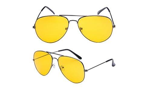 Youkara Gafas de Sol Amarillas de la Vendimia Gafas de Sol ...