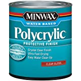 Minwax. 255554444 Minwaxc Polycrylic Water Based Protective Finishes, 1/2 Pint, Gloss (Limited Edition)