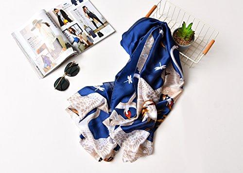 Bambine Stole Copricostumi amp; ragazze da Donna Felix Pareo Sarong Protezione Costumi Blu solare Extra Spiaggia UV Sciarpe bagno Wrap Scialli SiLK Gru e Grande nEO8qpA